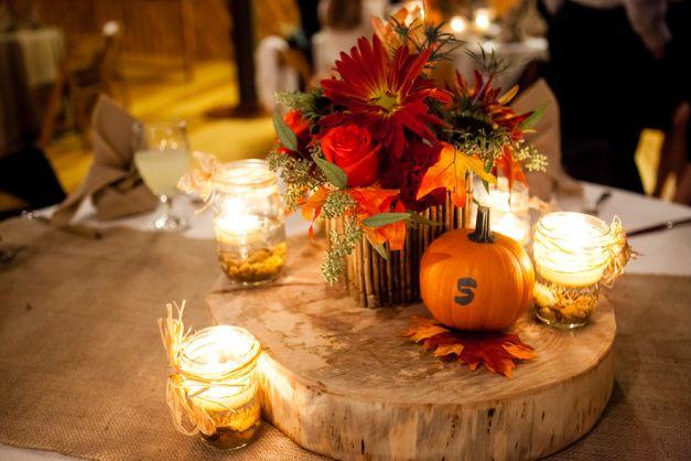 осіннє весілля декор