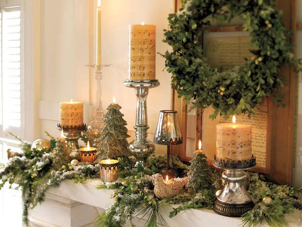 ідеї оформлення каміну для весілля зимова казка