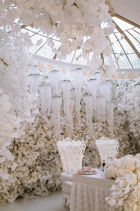 ідеї столу наречених для весілля зимова казка