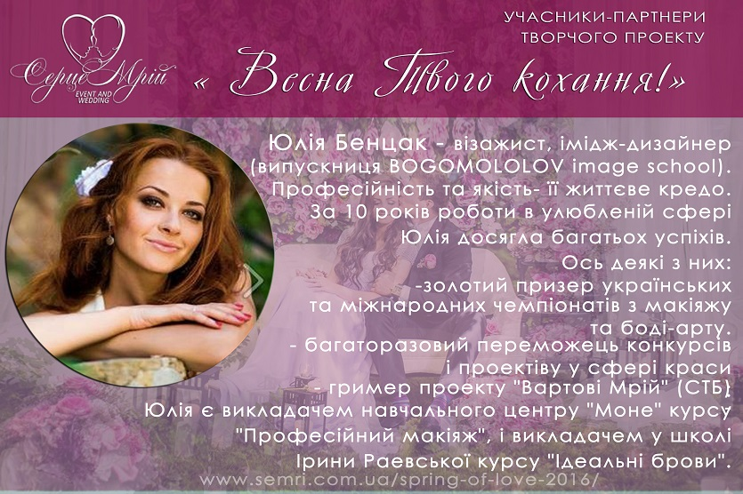 Юлія Бенцак учасник 1 Весна