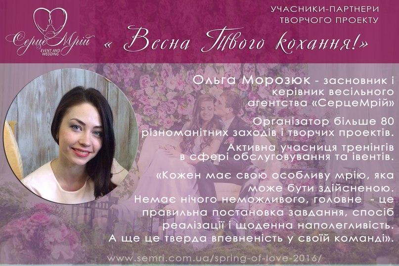 учасник 1 Весна Морозюк Ольга