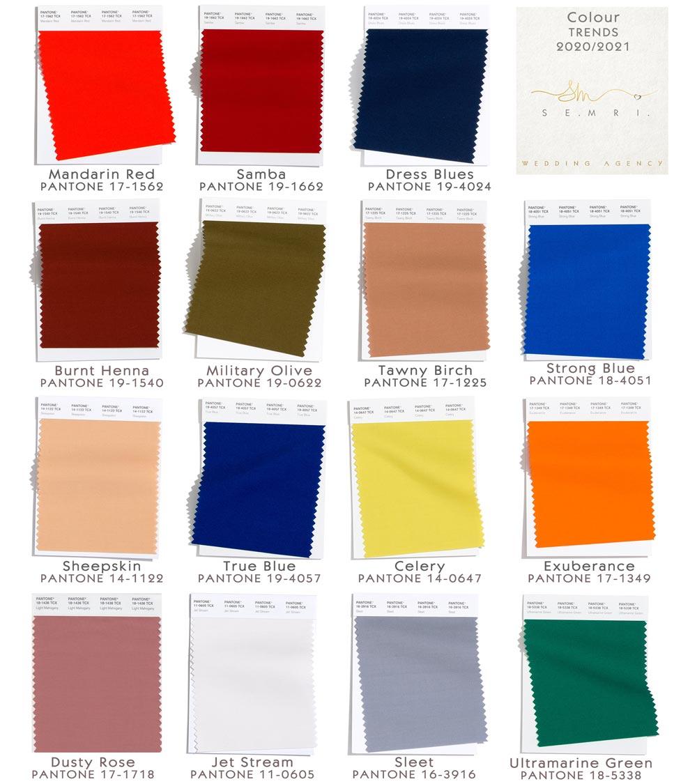 кольори весілля 2020-2021
